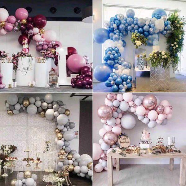 Воздушные гирлянды из шаров в студии Город друзей